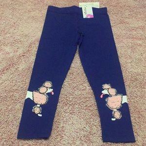 NWT PINK POODLE GIRLS LEGGINGS   Mango sz 8